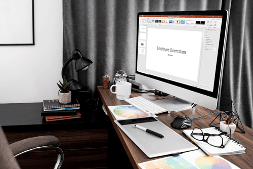 side-view-computer-screen-office-workspace-min